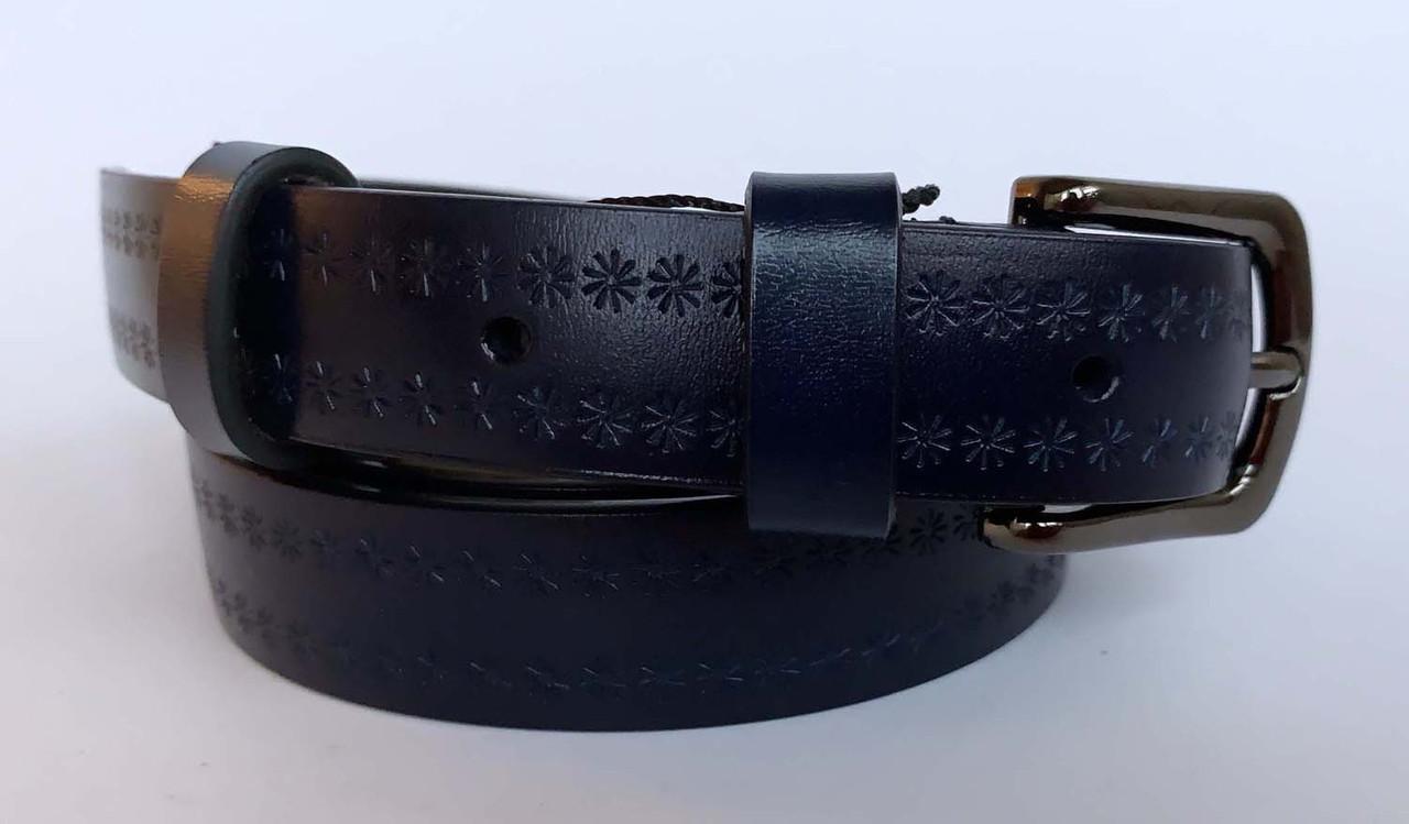 Жіночий пояс синього кольору, 140/170 грн (ціна за 1шт.+30 грн)