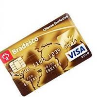 Флешка - в виде кредитной карты VISA GOLD Золотая 32GB