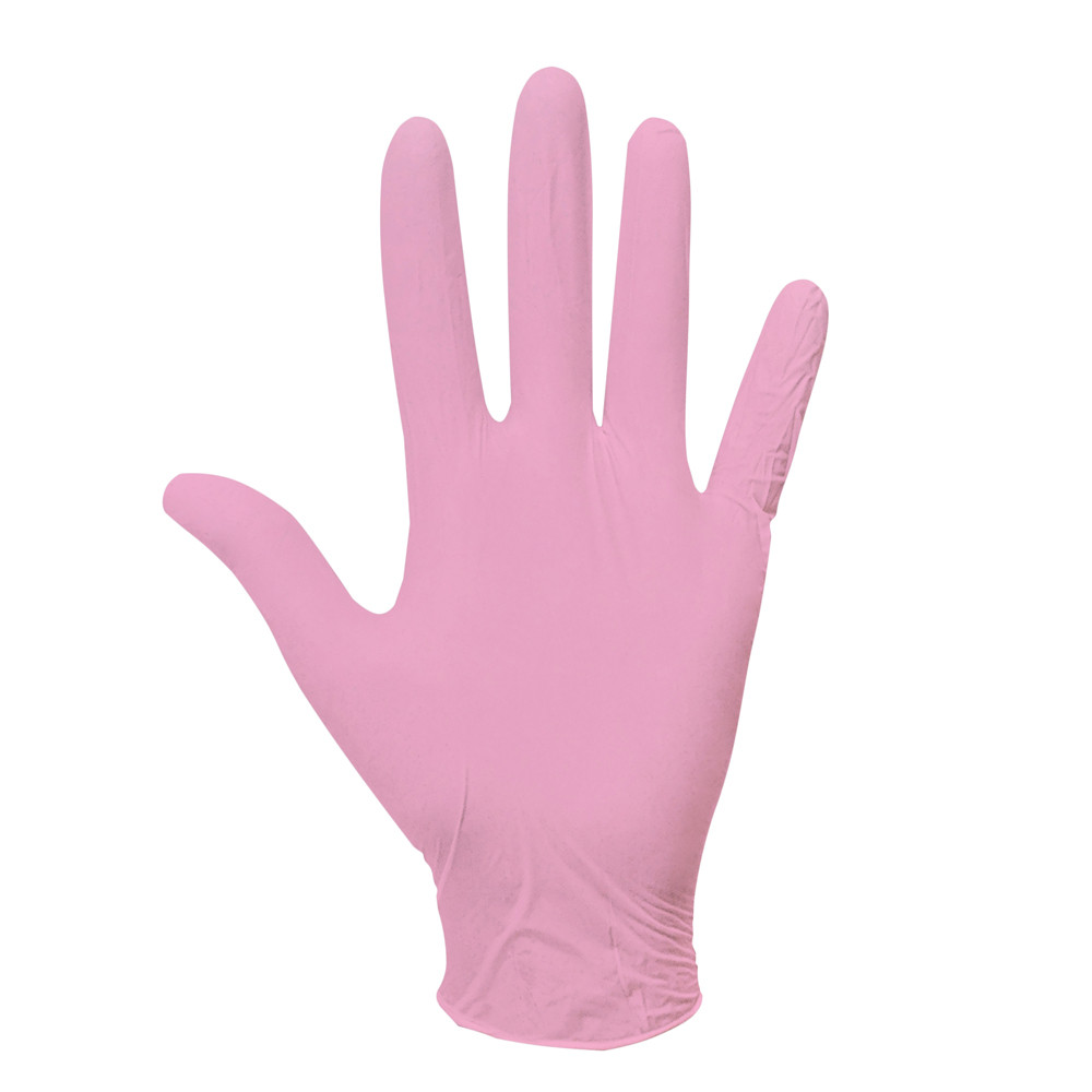Одноразовые перчатки нитриловые смотровые нестерильные неопудренные розовые 100 штучной упаковке