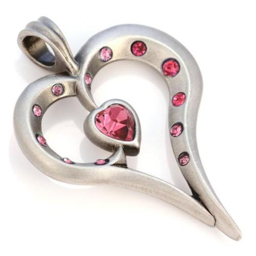 Подвеска сердце с кристаллами Swarovski Bico Romy 33 мм 175811