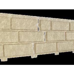 Фасадная панель Ю-Пласт Stone-House песочная (кирпич)