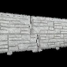Фасадная панель Ю-Пласт Stone-House светло-серая (сланец)
