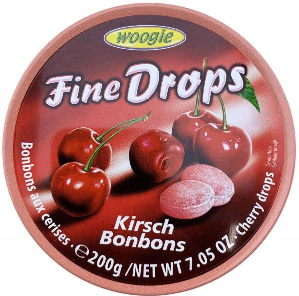 Льодяники Woogie Fine Drops Kirsch Bonbons вишневі, 200 гр.