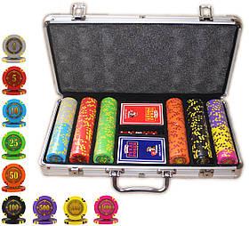 """Набор для покера """"Compass"""" 300 фишек с номиналом"""