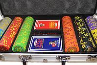 """Набор для покера """"Compass"""" 300 фишек с номиналом, фото 3"""