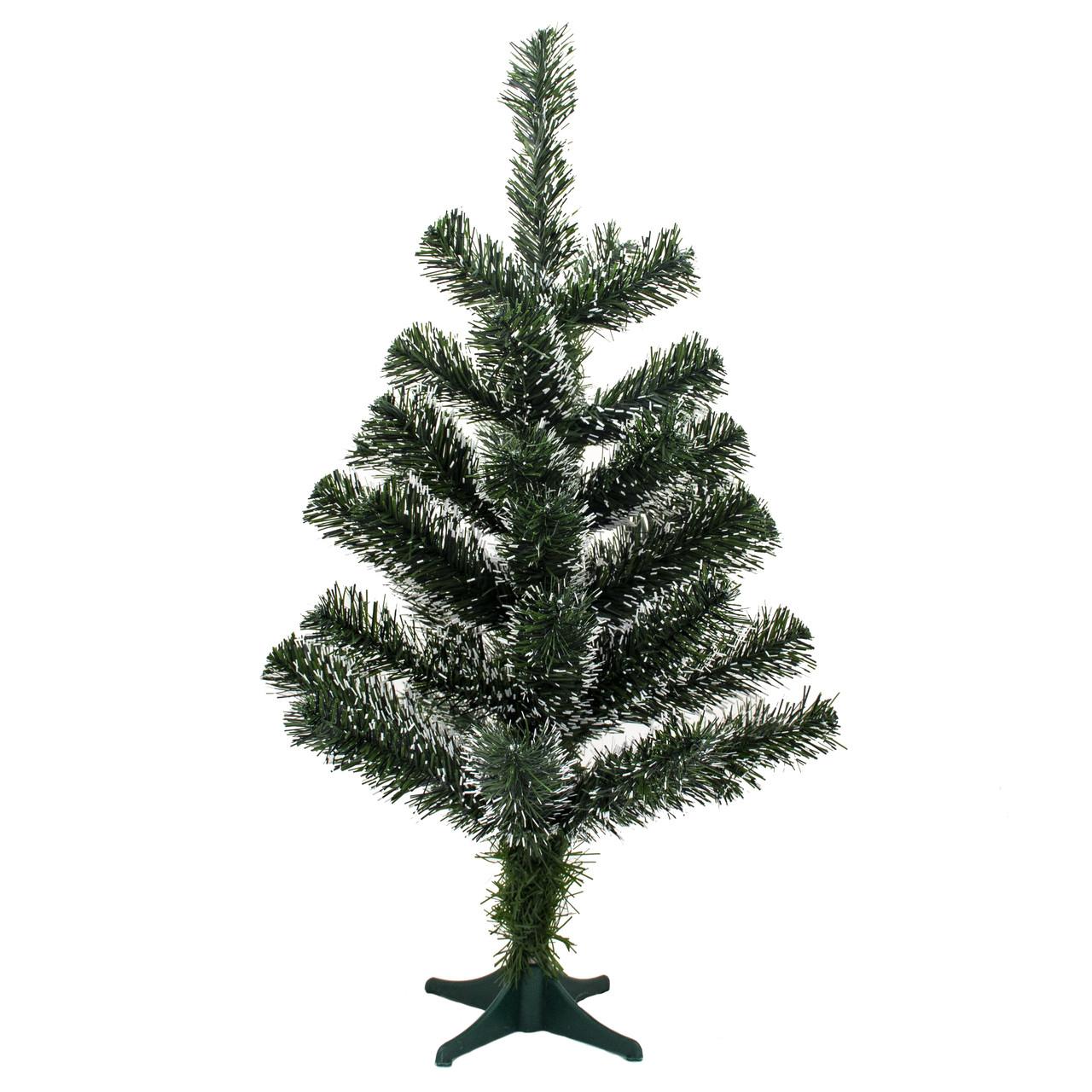 Елка искусственная новогодняя 60 см, зелено-белая (3МАГ-60)
