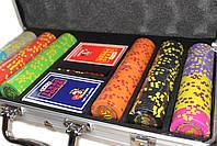 """Набор для покера """"Compass"""" 300 фишек с номиналом, фото 4"""