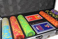 """Набор для покера """"Compass"""" 300 фишек с номиналом, фото 5"""