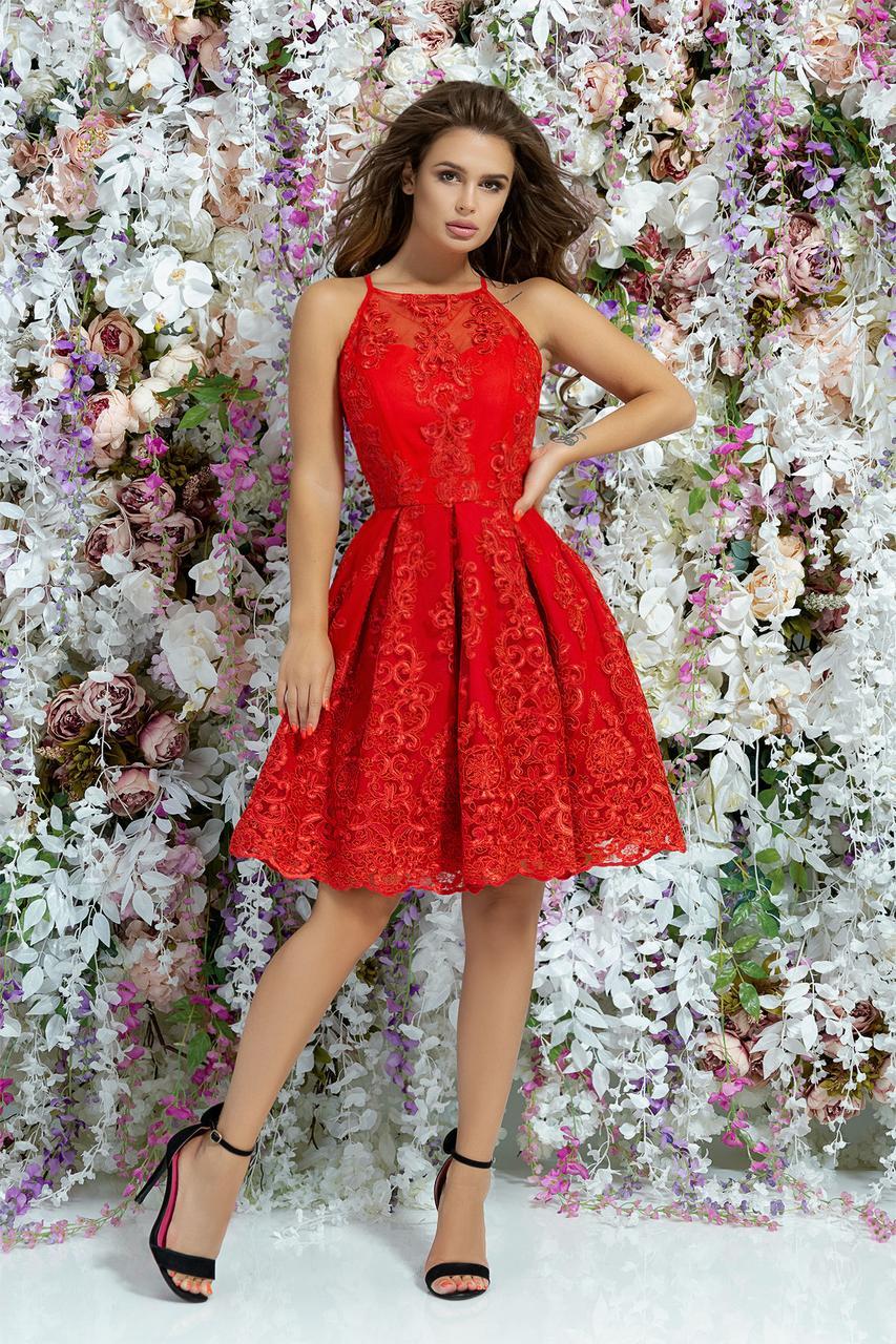 Платье  гипюр в расцветках  377273