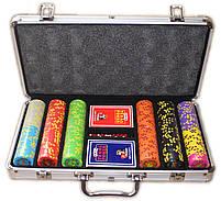 """Набор для покера """"Compass"""" 300 фишек с номиналом, фото 6"""