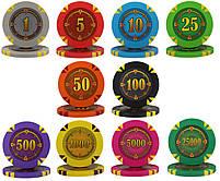 """Набор для покера """"Compass"""" 300 фишек с номиналом, фото 7"""