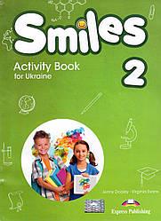 Робочий зошит Smiles 2 for Ukraine Activity book (with stickers & cards inside)