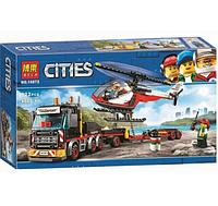 Конструктор Bela Cities 10872 Город Перевозчик вертолета 322 детали