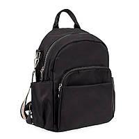 Женский рюкзак-сумка Spike тканевой черный