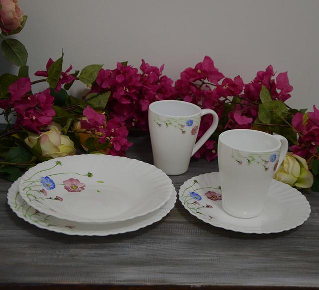 """Набор столовой посуды """"Весенние цветы"""" (24 предмета фото)"""