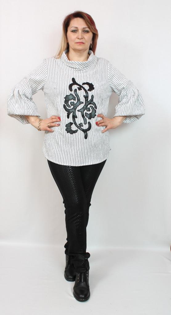 Турецкая женская туника в полоску, размеры 50-56