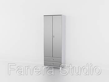 Шафа на дві двері з двома ящиками, шафа у вітальню та залу, меблі з вологостійкого МДФ Металік
