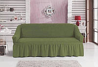 Чехол-покрывало на 3-х местный диван MILANO зеленый (Турция)