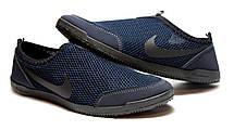 Мокасины кеды мужские в сеточку синие 40 размер, фото 3