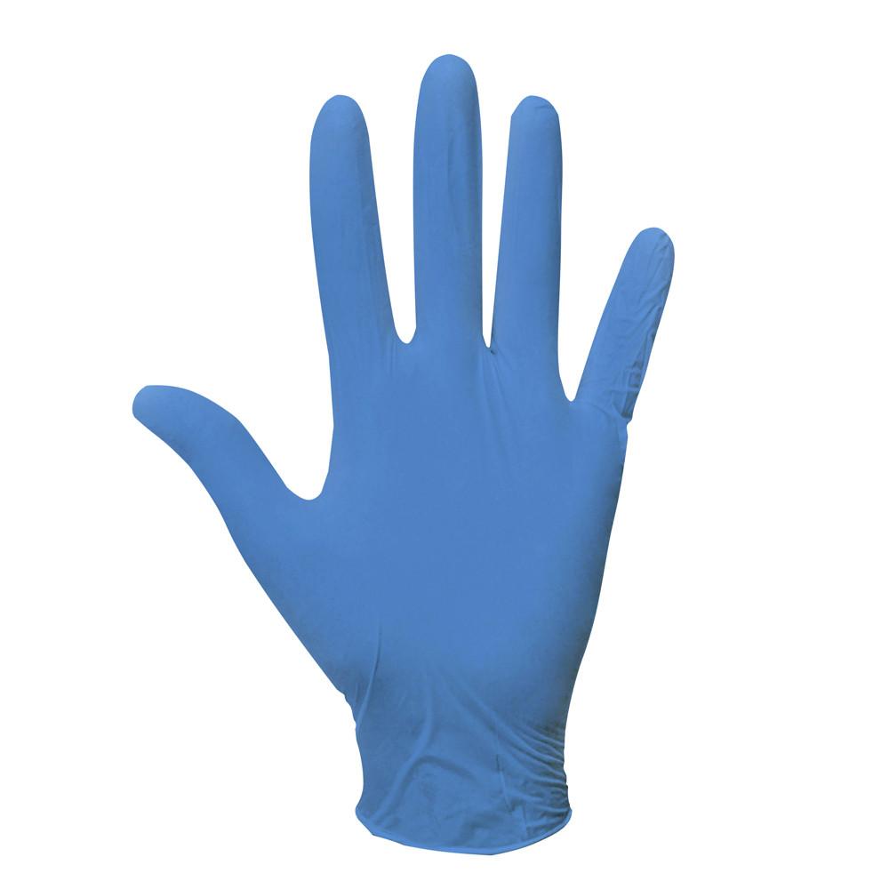Перчатки нитриловые одноразовые смотровые нестерильные неопудренные синие 200 шт/уп COBALT BASIC-PLUS