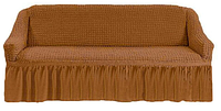 Чехол-покрывало универсальный на диван MILANO коричневый (Турция)
