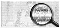 Необычная книга - текст в виде рисунка А3