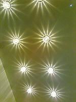 Светильники в натяжном потолке освещение потолка подсветка потолка