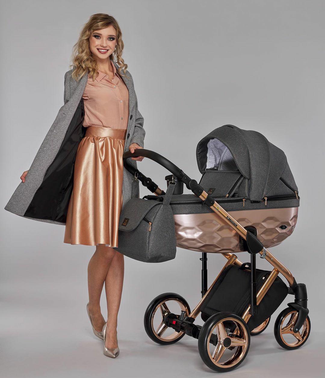 Дитяча коляска 2 в 1 Adamex Chantal Star  Polar (Pink ) 4