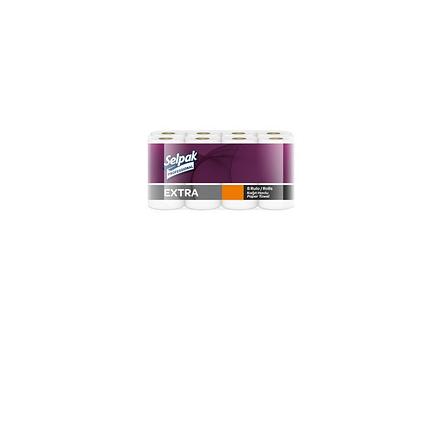 Рушник паперовий кухонний, Selpak PRO, Extra, 2-х шаровий, 11.25 м, (1уп\8рул.), фото 2