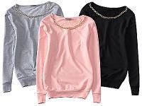 Модная женская блуза ,кофта ,свитер с цепью