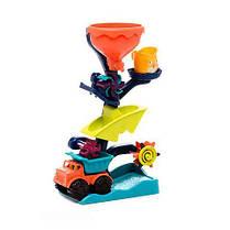 Набор для игры с песком и водой Battat - МЕЛЬНИЦА в комплекте машинка ведерце BX1310Z, фото 3