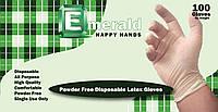 Латексные перчатки Emerald  100 шт  размер XL, фото 1