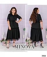 Сукня А-силуету, поділ прикрашений м'якими оборками на рукавах і грудях - тонке мереживо з 50 по 62 розмір, фото 10