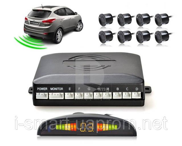 Автомобильный парктроник на 8 датчика + LED дисплей