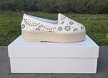 Женские слипоны Baldinini оригинал Италия натуральная кожа 40