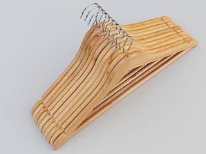 Плечики длина 45 см. Деревянные светлые, 10 штук в упаковке