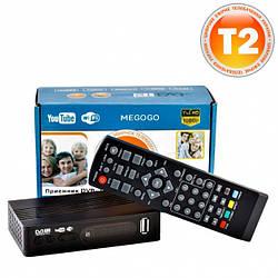 Тюнер Т2 ТВ ресивер DVB-T2 MEGOGO 2020 с LCD и поддержкой Wi-Fi
