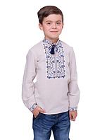 "Вишиванка з орнаментом на хлопчика ""Подолян"" машинна вишивка 122 см, фото 1"