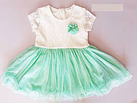 Платье для девочки Breeze мятно-белого цвета