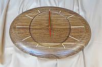 Часы из дерева,овальные дуб или ясень 450х330 мм, фото 1