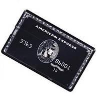 Флешка - в виде кредитной карты American Express черный 16GB