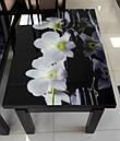 Стол трансформер Флай  венге  с черным стеклом , журнально-обеденный, фото 7