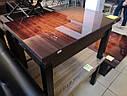 Стол трансформер Флай  венге  с черным стеклом , журнально-обеденный, фото 9