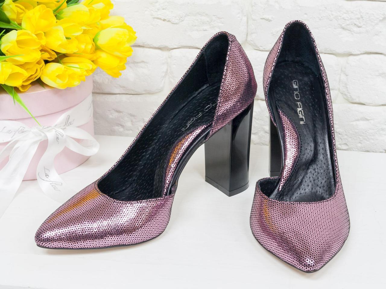 """Нарядные туфли из натуральной кожи лимитированной серии розового цвета цвета """"Disco"""""""