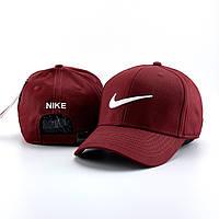 Мужская кепка, бейсболка Nike (Найк), бордовая