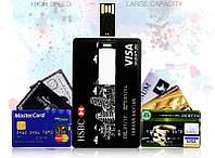 Флешка - в виде кредитной карты МasterCard синий 64GB