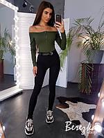 Женский костюм брюки и боди с открытыми плечами tez6610267Q, фото 1