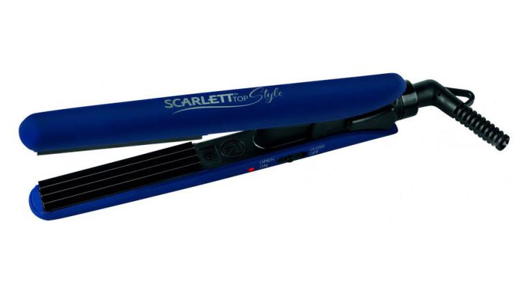 Щипці для волосся Scarlett SC-HS60601 гофре Кераміка Синій