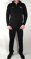 Мужской стильный молодежный черный спортивный костюм