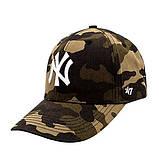 Жіноча кепка New York Yankees NY бейсболка камуфляжна Нью Йорк Янкіс 100% Коттон Модна Стильна репліка, фото 2